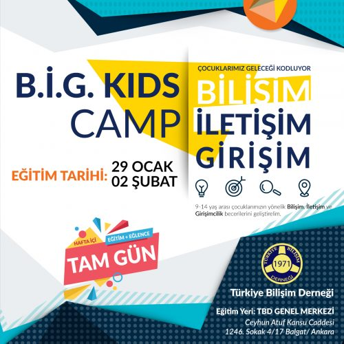 TBD'den B.İ.G. Kids Camp Eğitimi