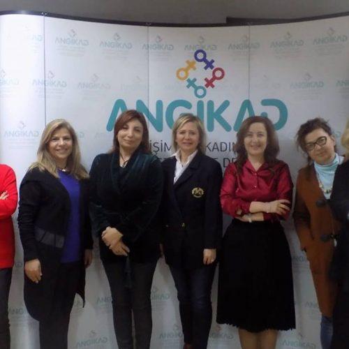 TBD Ankara Şubesi Yönetim Kurulu Başkanı Nurcan Sunay ve TBD Kadın Çalışma Grubu Koordinatörü Suna Öztop ANGİKAD'ı Ziyaret Etti
