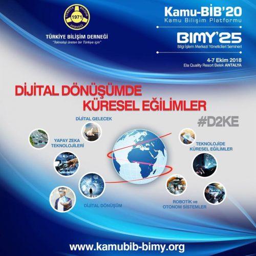 """KAMU-BİB'20 ve BİMY'25 """"Dijital Dönüşümde Küresel Eğilimleri"""" Masaya Yatırıyor"""